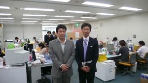 徳丸社長と藤田